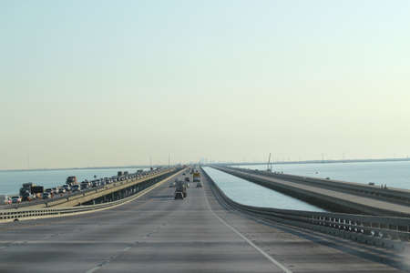 Endless long bridge - Highway down to New Orleans