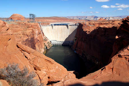 Glen Canyon dam and Lake Powell in Page, Arizona