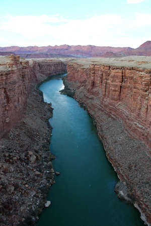 Colorado River near Twin Navajo Bridge Standard-Bild