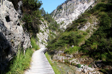 Wonderful day for Hiking: Beautiful trail in the Ötschergraben in Lower Austria / Spectacular canyon next to Mount Ötscher