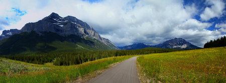 Bike path near Banff in Alberta, Canada