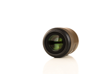 lens of the camera of light brown color