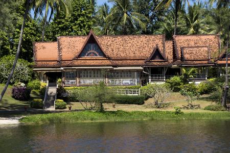 Beautiful Asian-style hotel on the shore of the lagoon. Phuket, Thailand