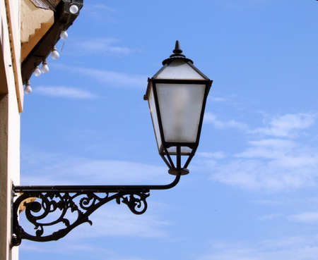 central europe: Old latern in central Europe street