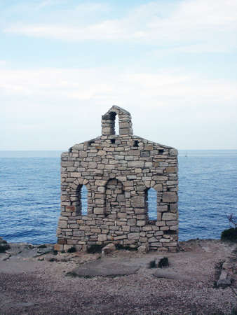 chappel: Little stone church on the Istrian shore