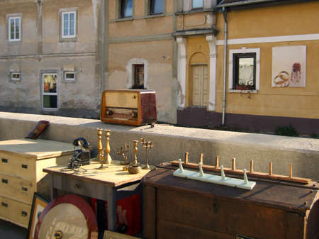 Antiques road show in the old city center photo