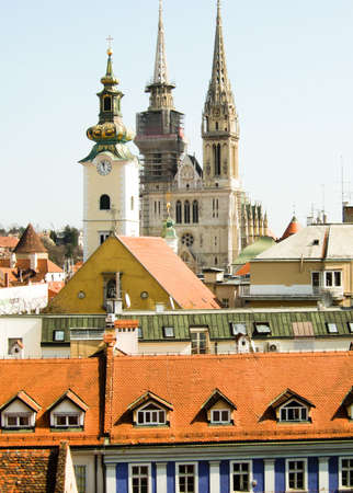 zagreb: Old churches and cathedral in Zagreb Croatia