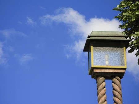 Old classic style stone lantern in Zagreb - Croatia photo