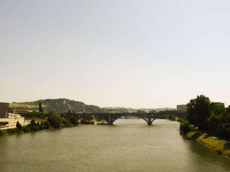 drava: Railway bridge on river Drava - Maribor - Slovenia - central Europe