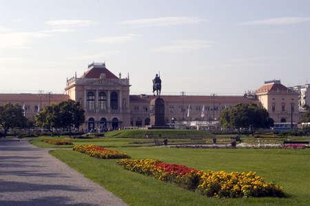 zagreb: Central railway station in Zagreb, Croatia, Europe Stock Photo