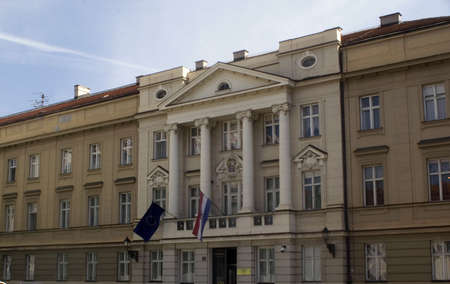 Election in Croatia - Croatian parliament building (Sabor) in Zagreb
