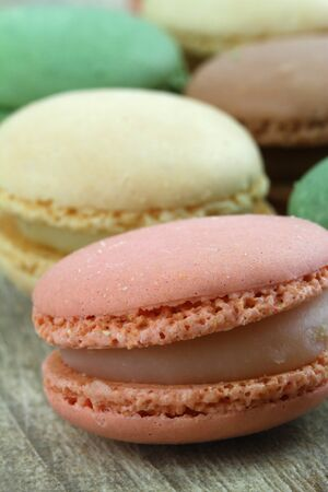 Macaroon variety, close up photo