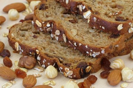 Muesli bread, close up Stock Photo