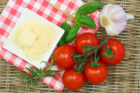 Selection of Italian ingredients photo