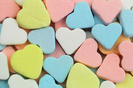 Colorful sugar hearts photo