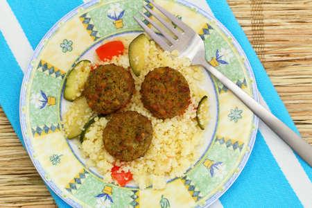 Falafel with couscous Stock Photo - 27232568