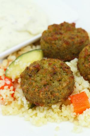 falafel: Falafel with couscous
