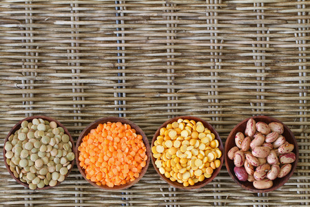 Selection of pulses with copy space photo