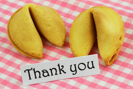 Thank you card with fortune cookies photo