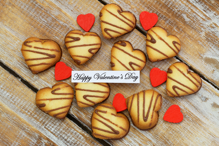 scattered in heart shaped: Happy Valentine\