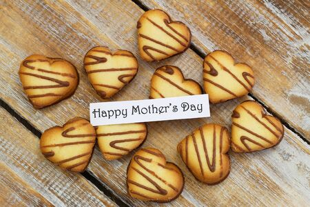 scattered in heart shaped: Happy Mother\ Stock Photo