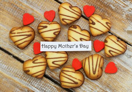 scattered in heart shaped: Happy Mother\\\\\\\\ Stock Photo