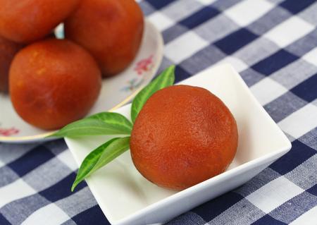 gulab: Gulab jamun, closeup Stock Photo