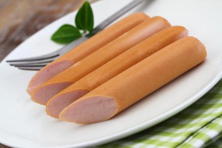 frankfurters: Frankfurters on white plate