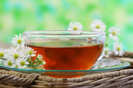 chamomile tea: Cup of chamomile tea with copyspace Stock Photo