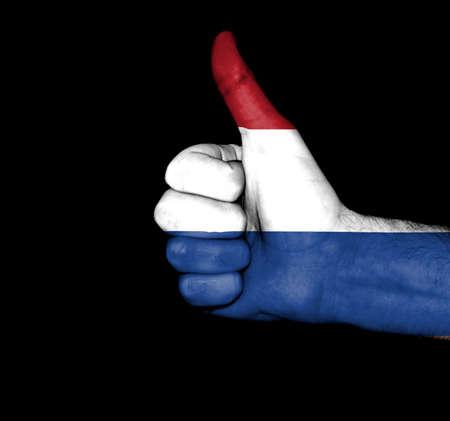 drapeau hollande: Poing peintes dans des couleurs de drapeau hollande
