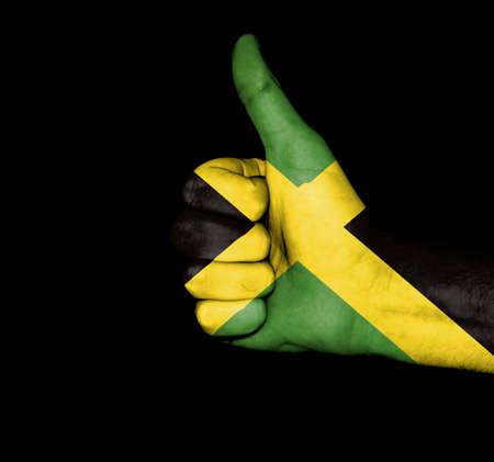 jamaican flag: Jamaican flag on hands