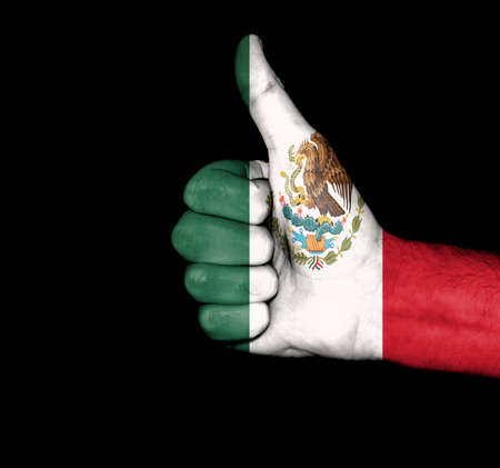 Flag of Mexico on hand photo