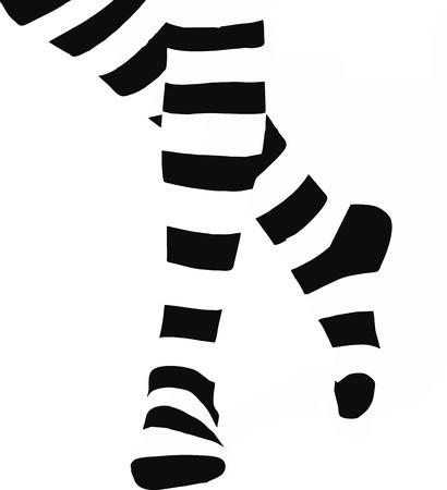 legs stockings: Gambe in calze Vettoriali