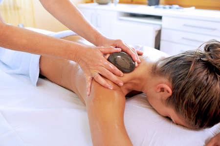 bracing: Hot stone massage at day spa