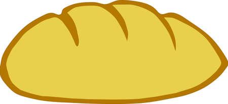 Gold Bread Stock Vector - 9465260