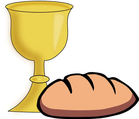 Bread and chalice Vector