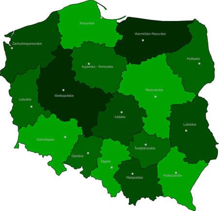 Vevtor Maps of Poland Illustration