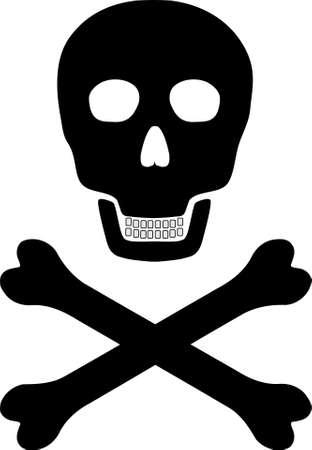 warning against a white background: Skull