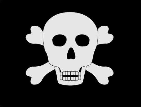 warning against a white background: Jolly roger Illustration