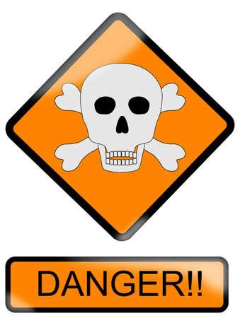 Danger sign Stock Vector - 9715731
