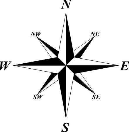 Wind Rose Stock Vector - 9932260