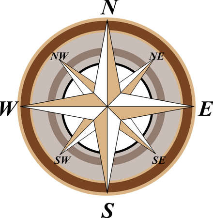 Wind Rose Stock Vector - 9932261