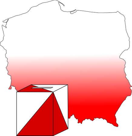 Election in poland Vector
