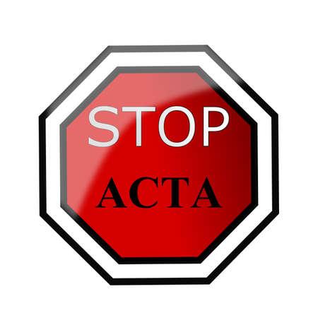 community surveillance: Stop Acta sign