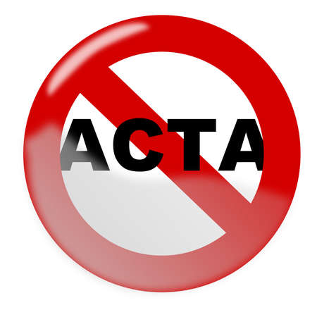 Stop ACTA Stock Vector - 12375741