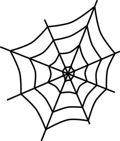 Spider silk Illustration
