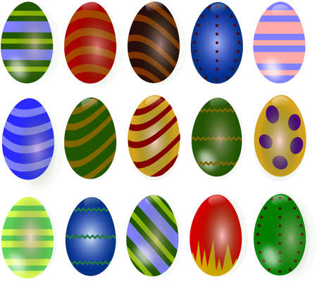 passover and easter chick: Easter Eggs Set