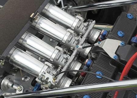 seater: Racing Car Engine Detail