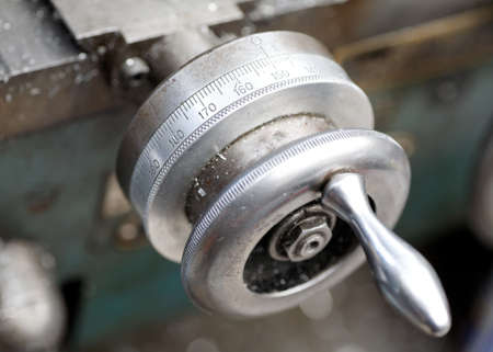 swarf: Lathe Detail Stock Photo
