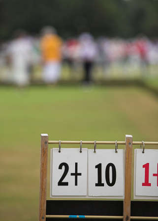 bowl game: A game of lawn bowls with focus on the scoreboard.